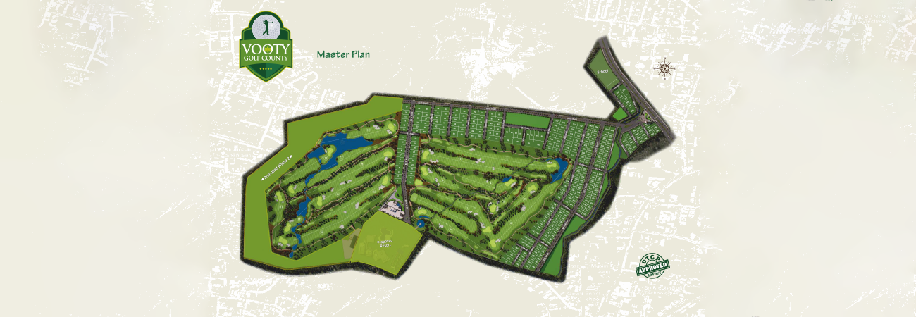 Vooty Golf County map