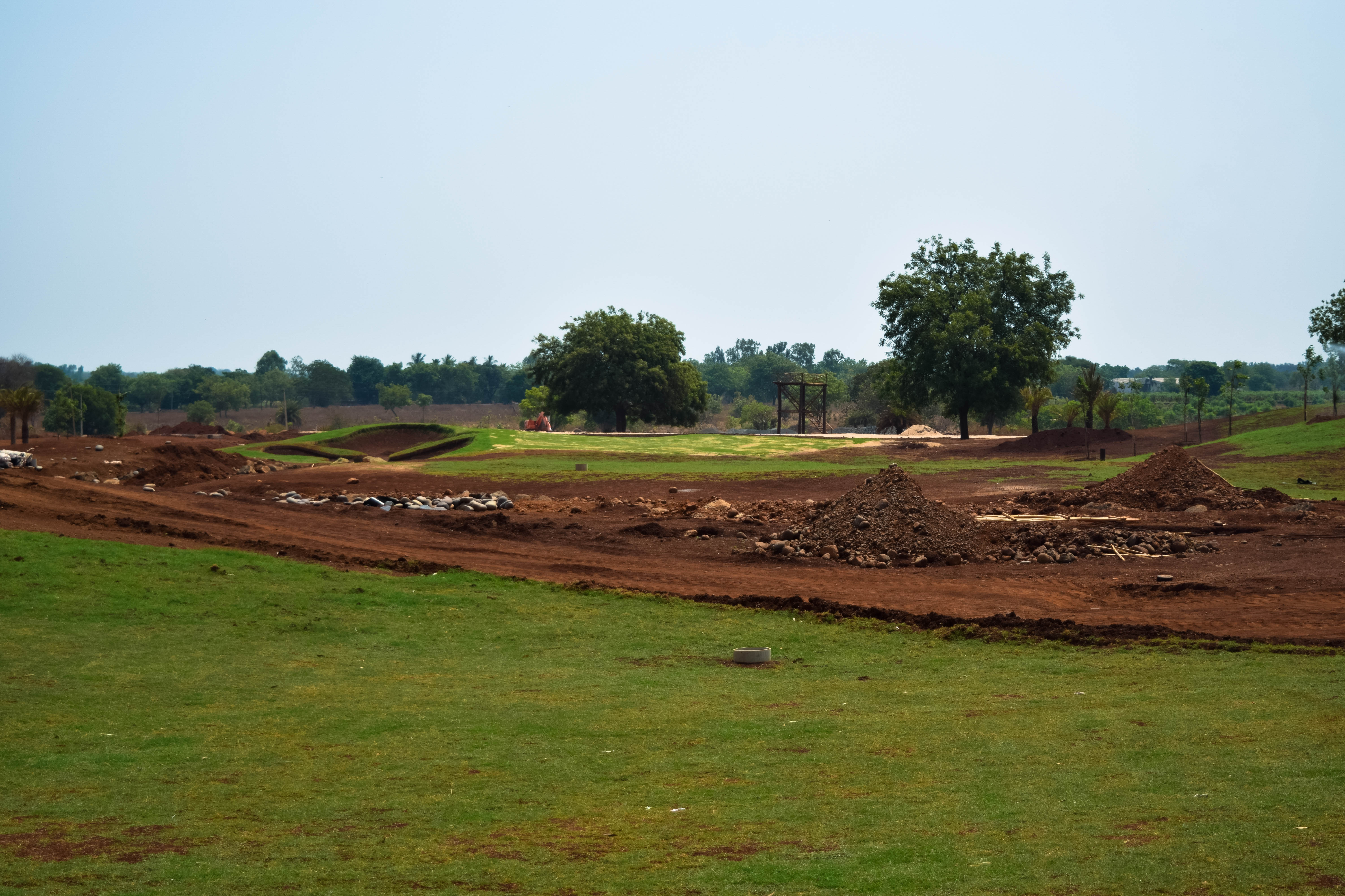 Golf course under construction